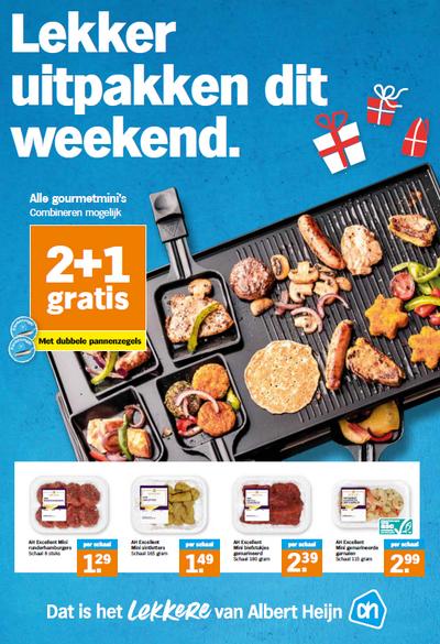 AH Gourmet mini's 2+1 gratis