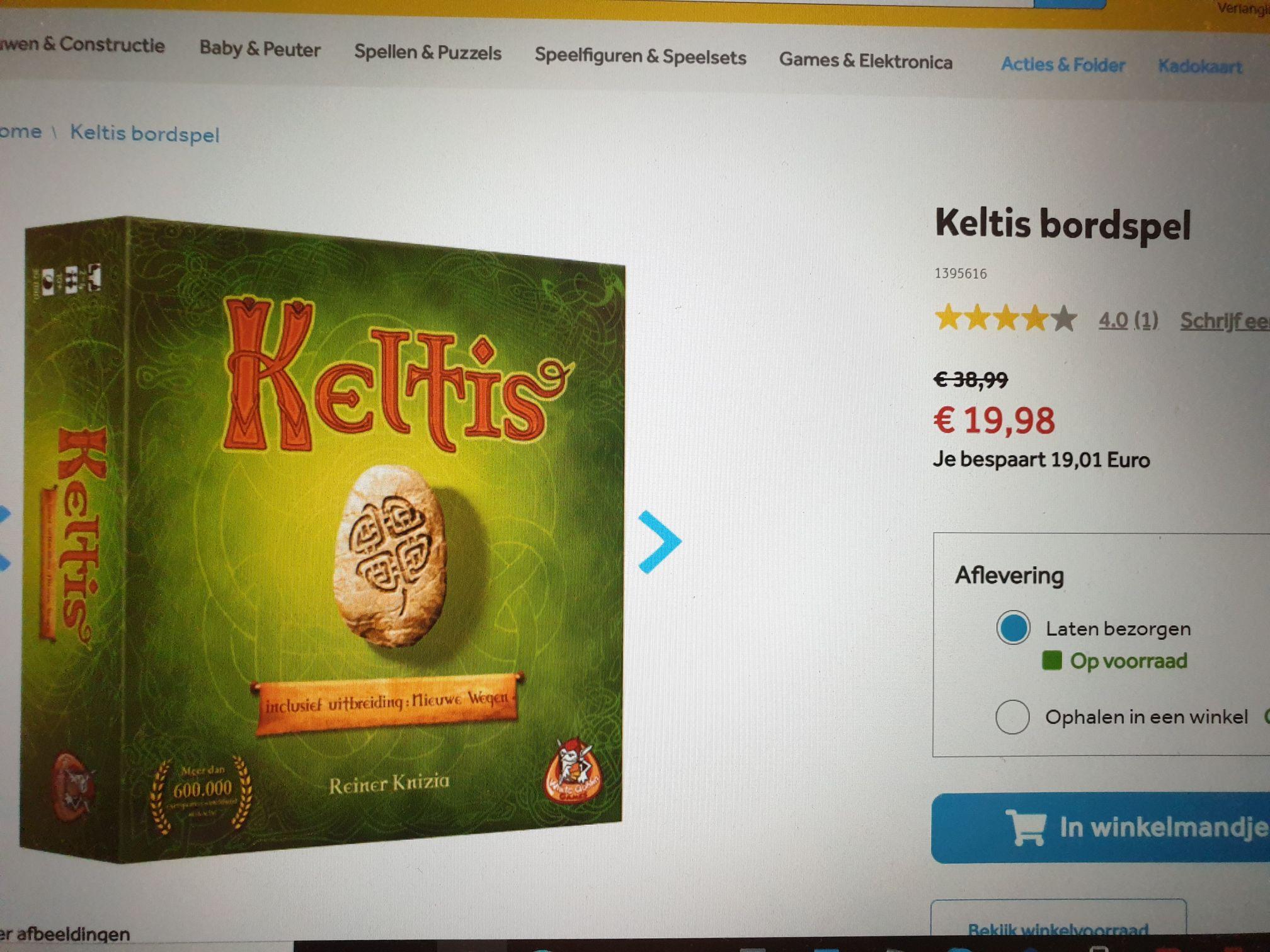 Bordspel Keltis voor laagste prijs ooit