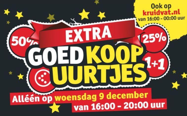 Kruidvat Koopavond op woensdag 9 december vanaf 16:00 uur. In de winkel en online.