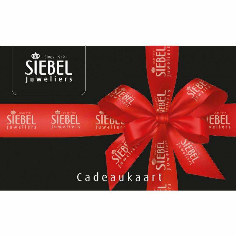 Siebel cadeau kaart van 50 euro voor 25!