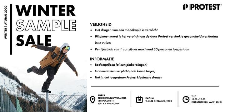 Protest Winter Sample Sale; 9, 11, 12 en 13 december in Warmond