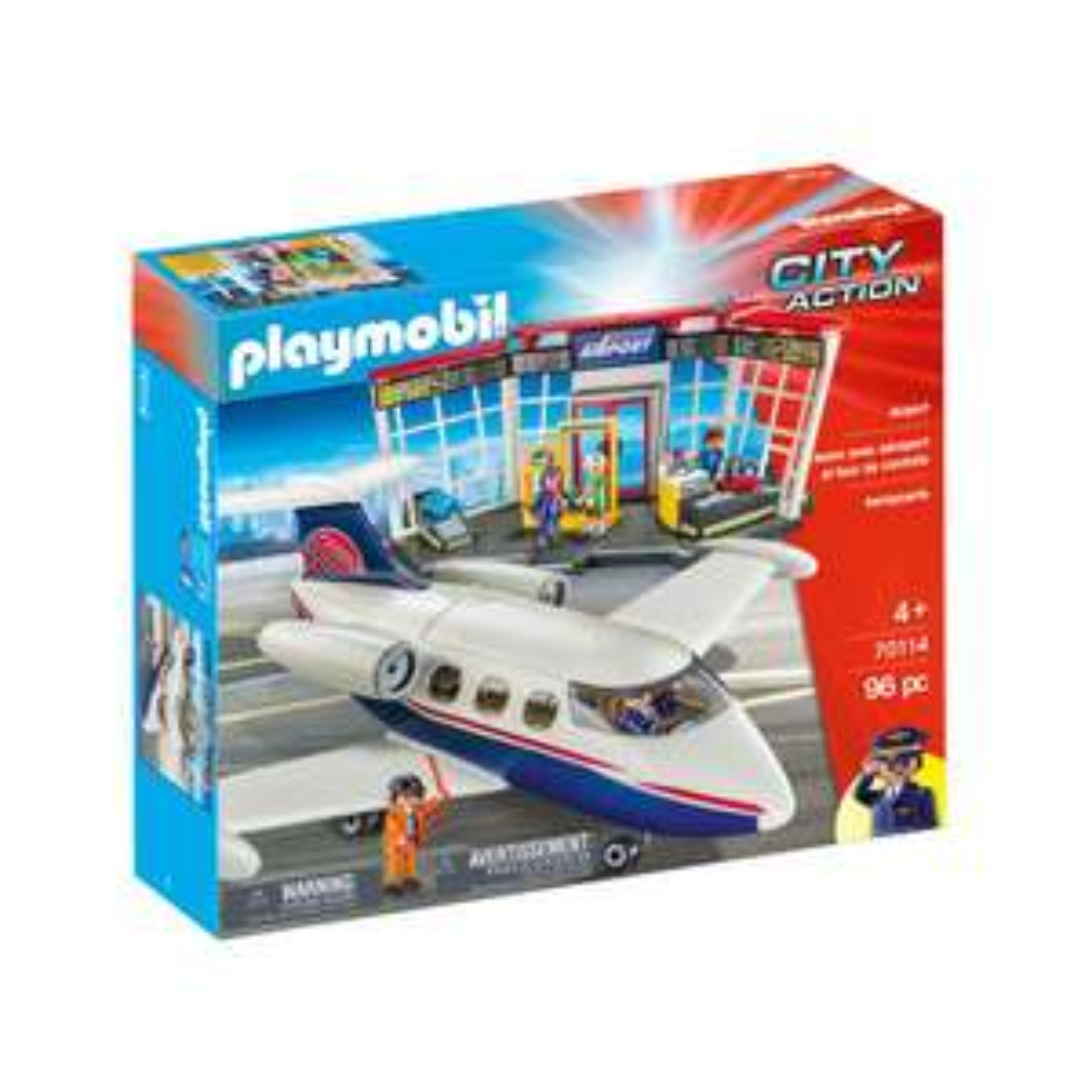 PLAYMOBIL City Action luchthaven en vliegtuig 70114