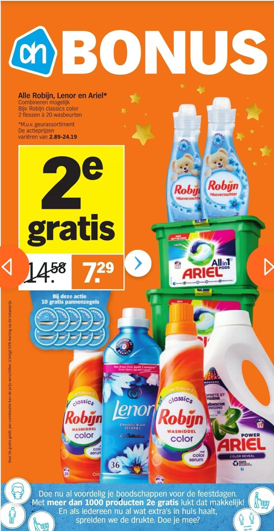 Weer meer dan 1000 producten 2e gratis bij Albert Heijn !
