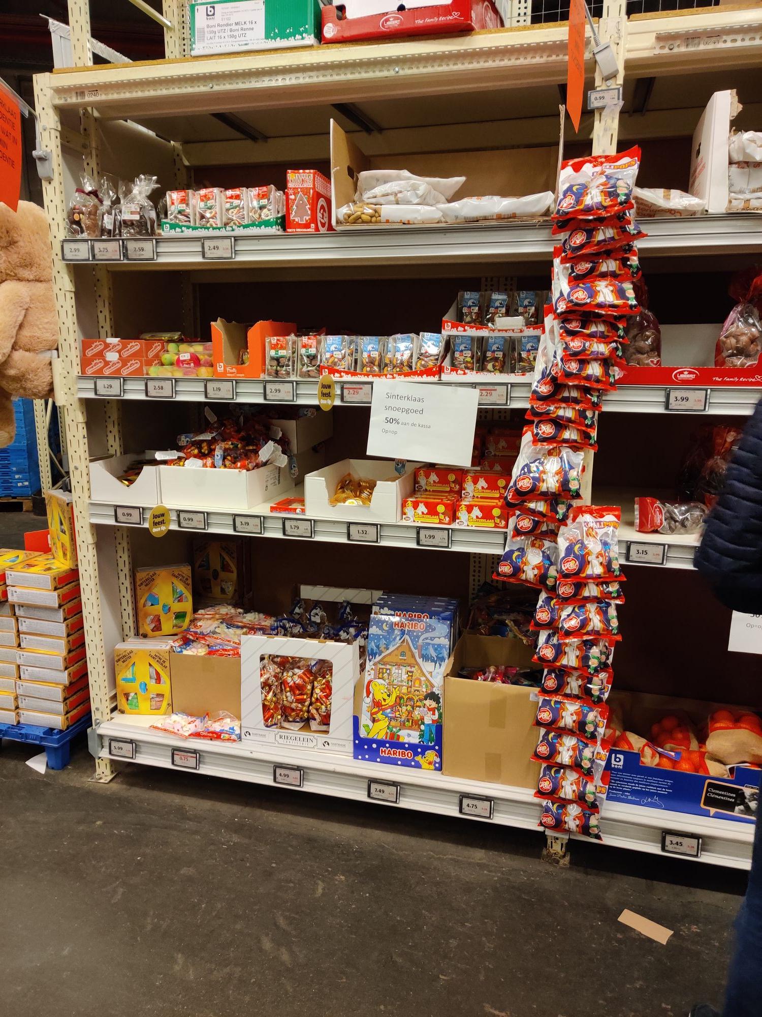 [GRENSDEAL BELGIË] alle Sinterklaas snoep aan 50% bij Colruyt
