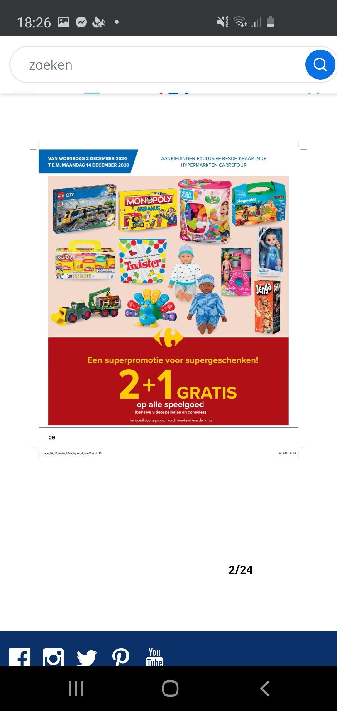 Belgie carrefour hypermarkt 2+1 speelgoed inclusief lego