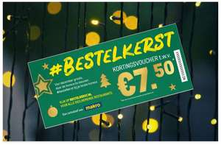 €7,50 korting voor consumenten én afhaalrestaurants