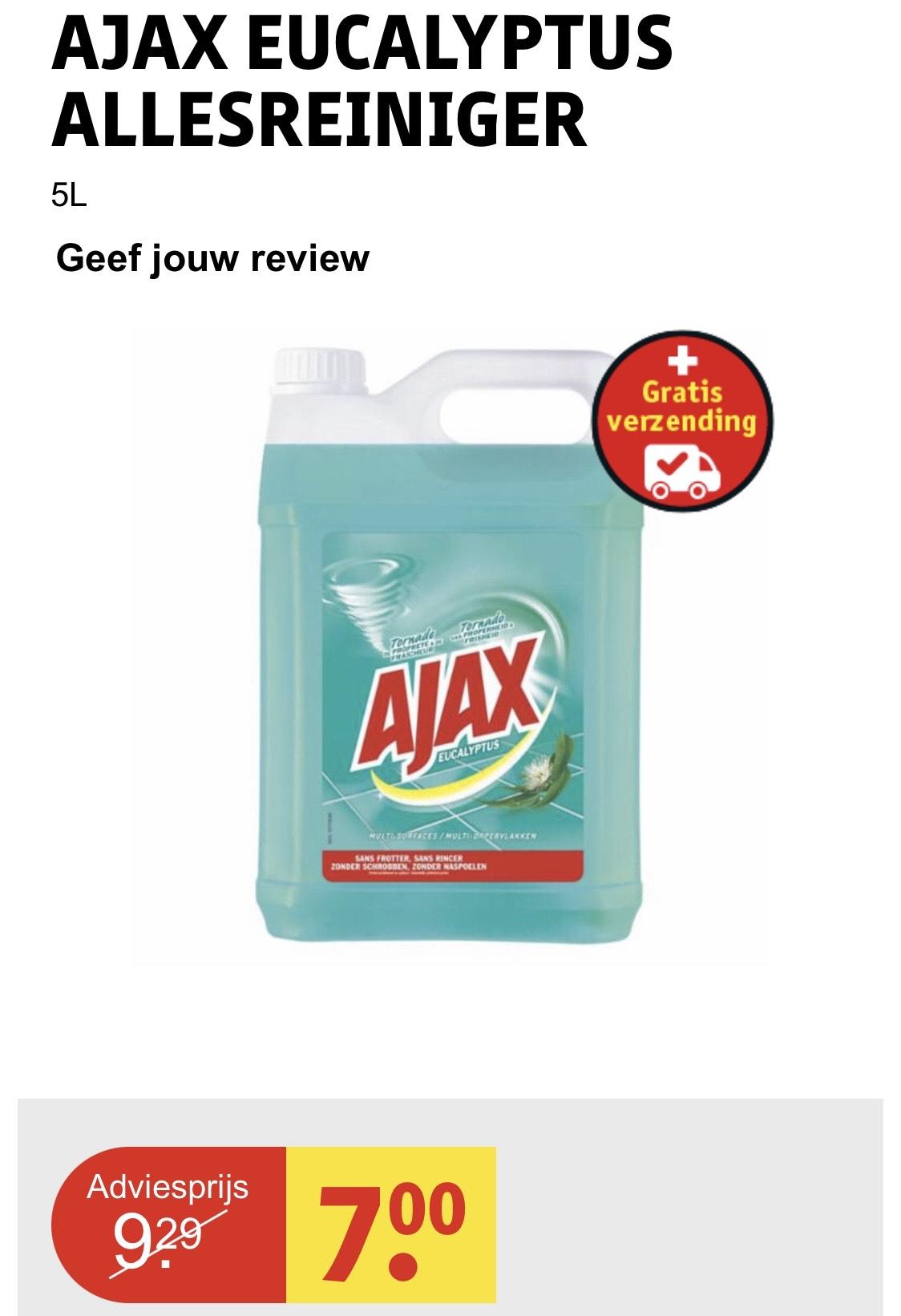 AJAX Eucalyptus allesreiniger 5 liter