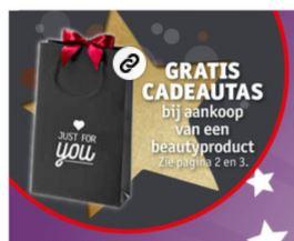 Cadeautasje gratis bij aankoop (va €0,59) @ Kruidvat