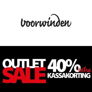Outlet 50-80% korting + 50% EXTRA @ Voorwinden