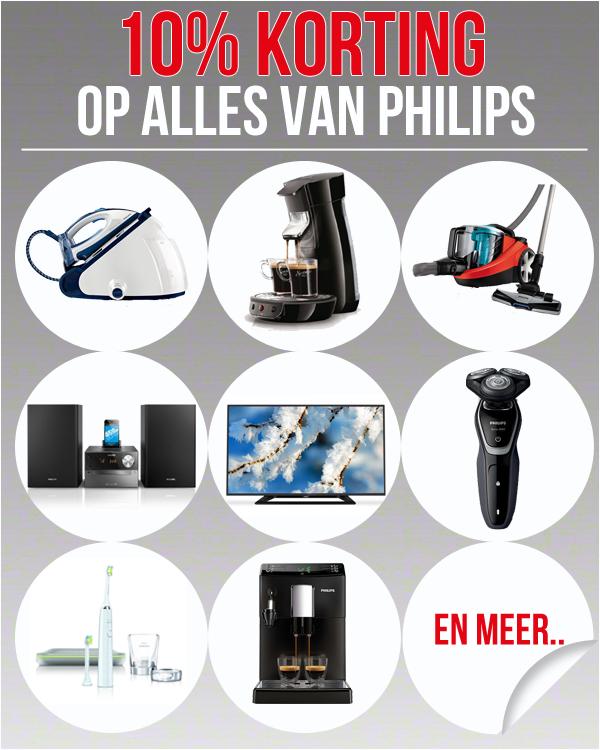 10% korting op alle producten van Philips @Modern