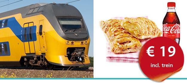 Dagje naar je favoriete stad + kaasbroodje en frisdrank voor €19 @ NS