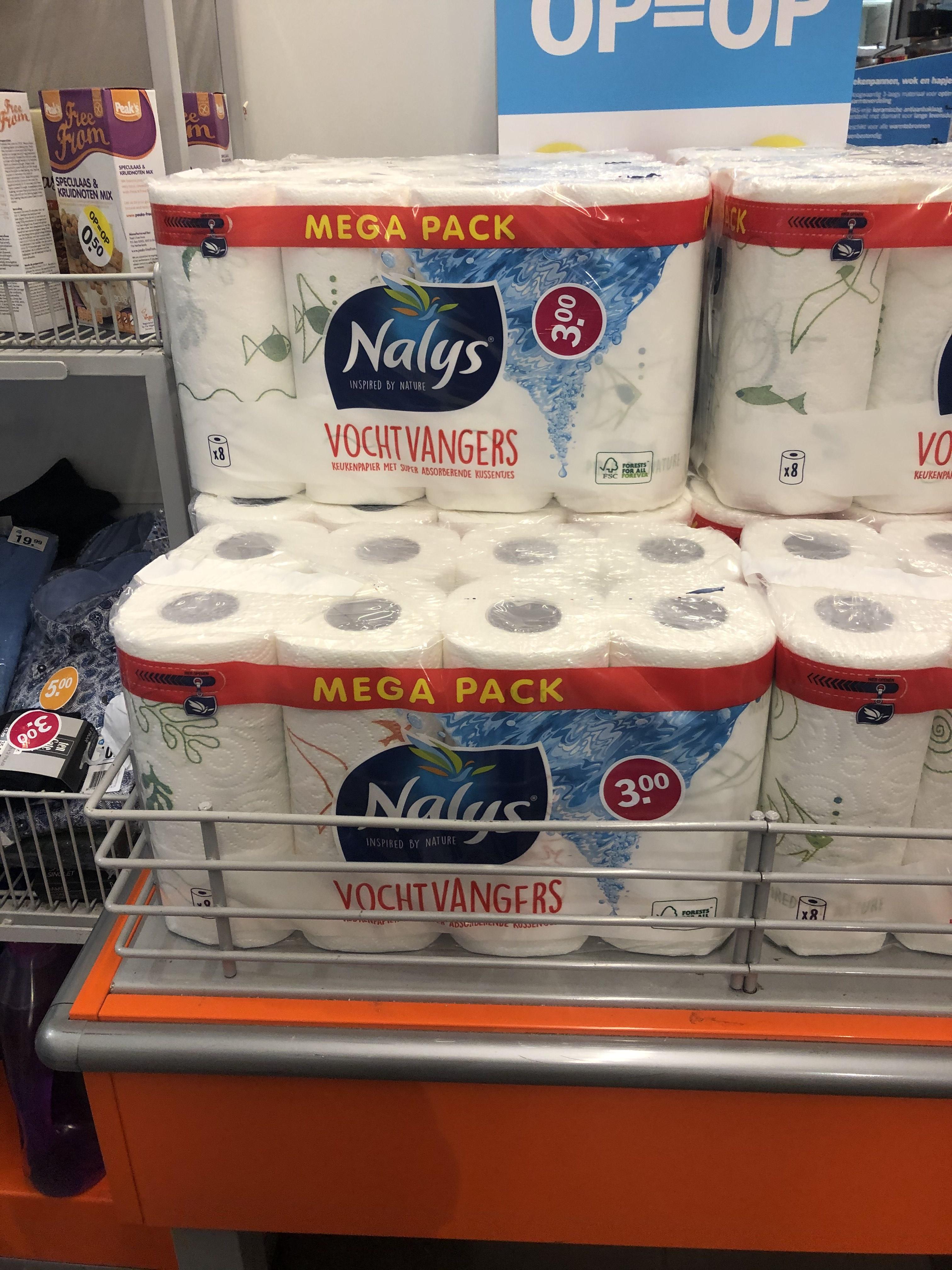 Mega pack 8 rollen voor €3