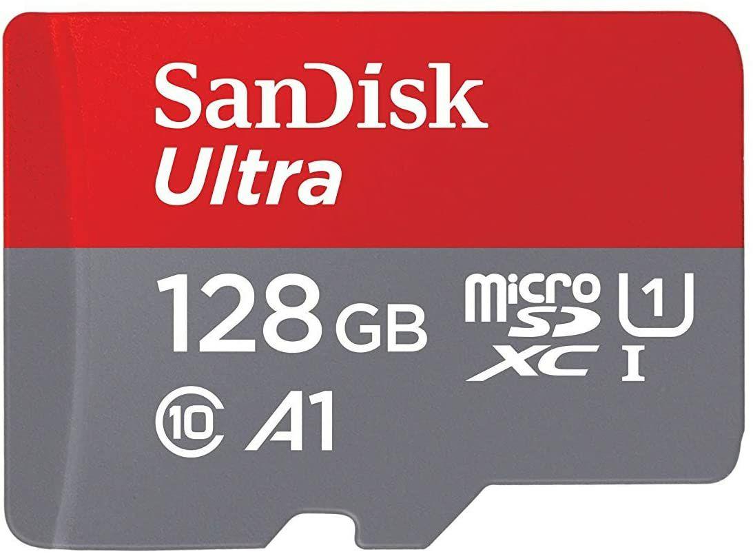 128GB Sandisk Ultra Microsd geheugenkaart.
