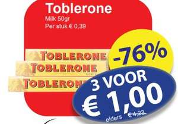 150g Toblerone €1 @ Die Grenze