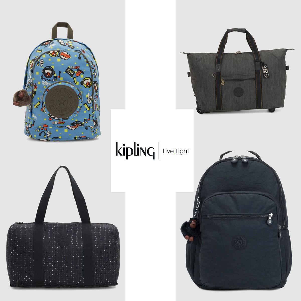 Kipling -50% + 20% EXTRA met code [140+ modellen]