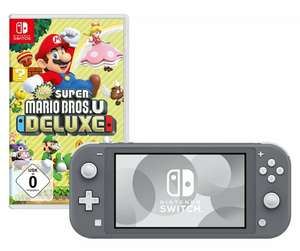 Nintendo Switch Lite - Grey + New Super Mario Bros U Deluxe