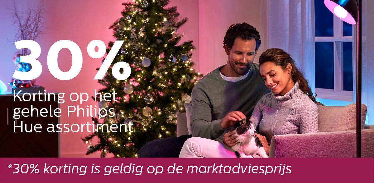 Alleen voor (ex)-personeel: 30% korting op gehele Philips Hue assortiment