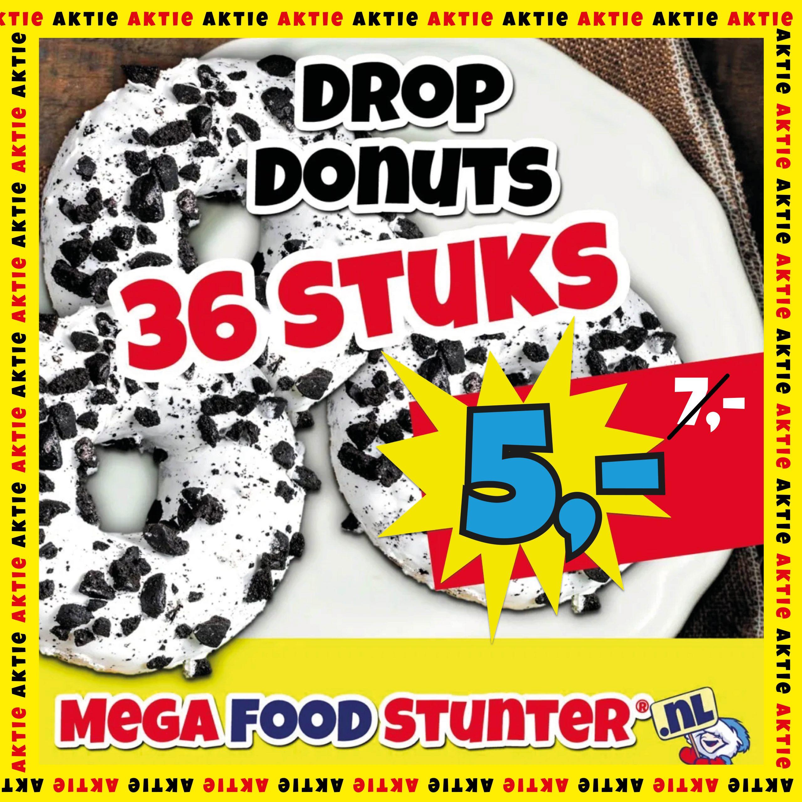 Prijsfout: 36 drop donuts voor €2 bij MegaFoodStunter