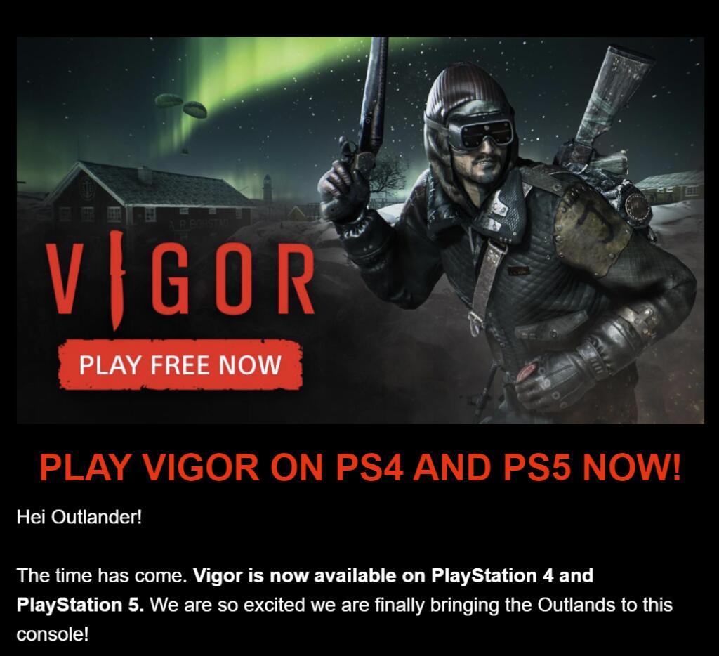 Bohemia Interactive Vigor nu gratis speelbaar voor PS4/PS5