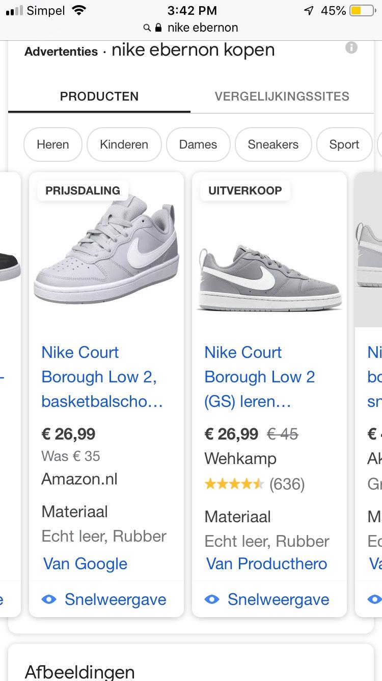 Nike court borough low 2 grijs