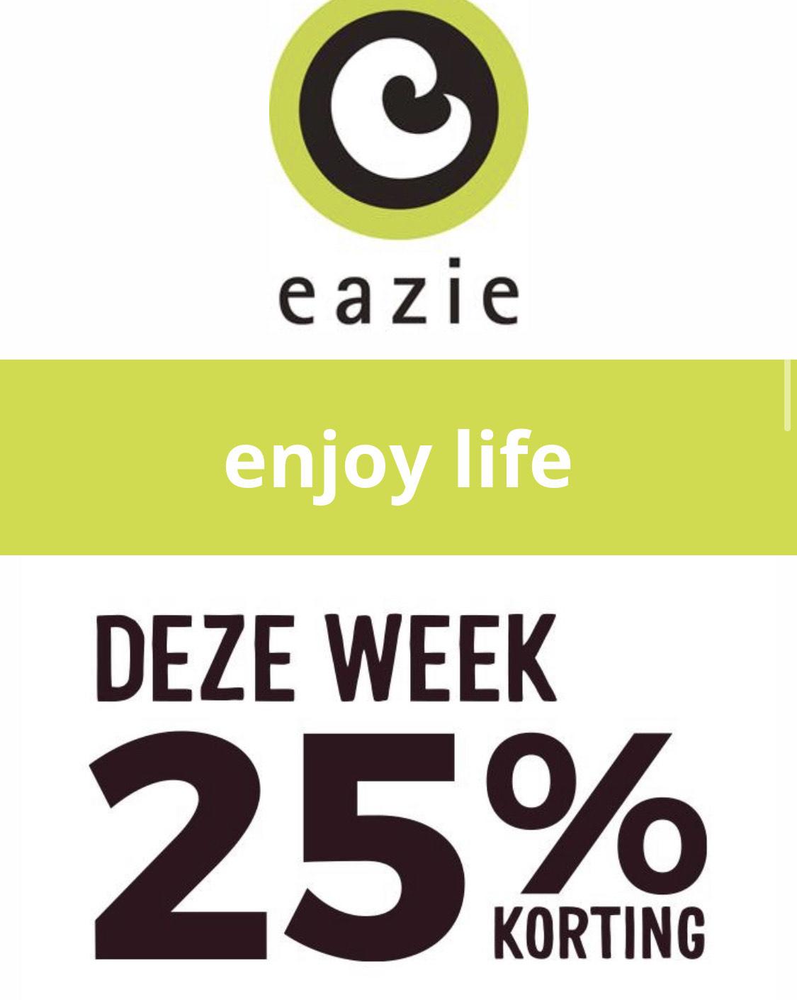 25% korting bij Eazie vanaf €12,50