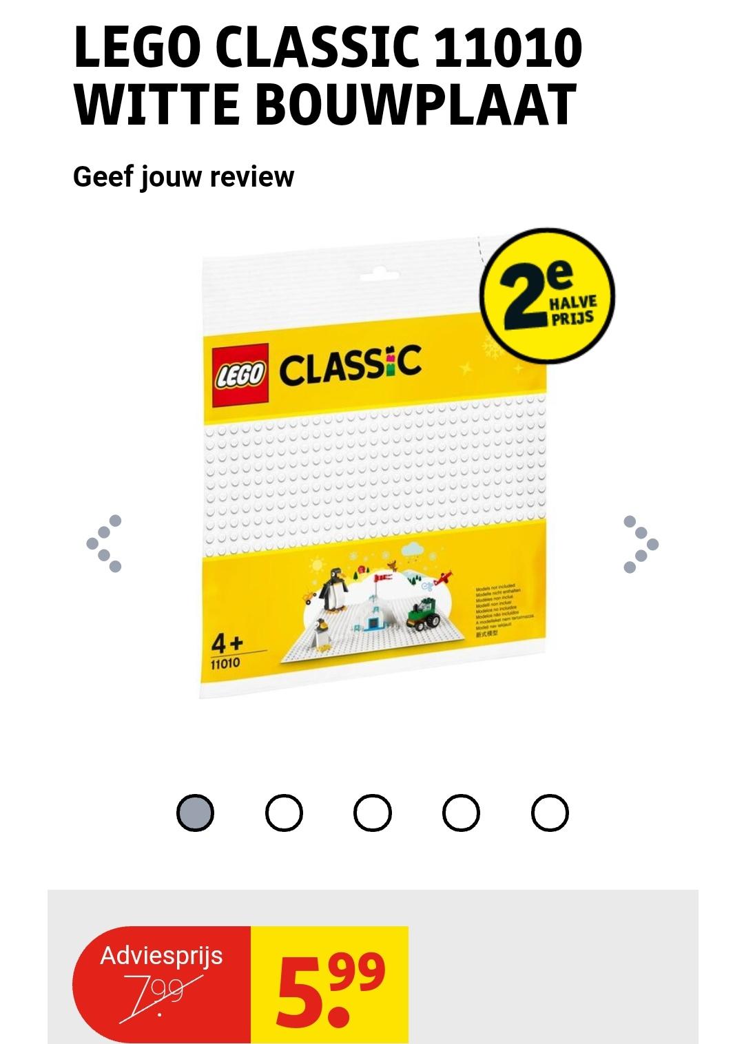LEGO Classic 11010 Witte Bouwplaat @Kruidvat