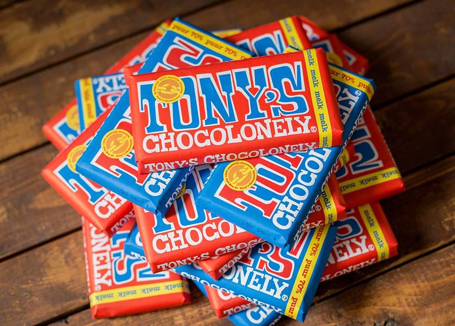 Gratis Tony's Chocolonely reep t.w.v. € 2,75 bij DEEN Supermarkten (zie voucher)