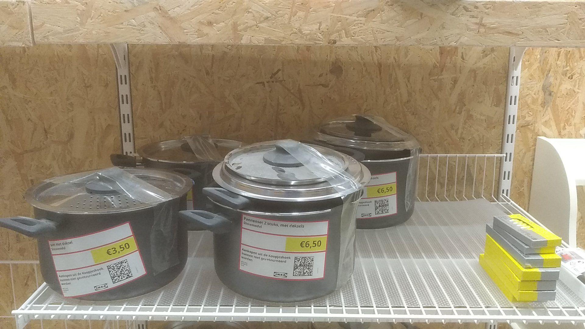 Veel pannen voor €3,25/€3,50 per stuk bij Ikea Zwolle