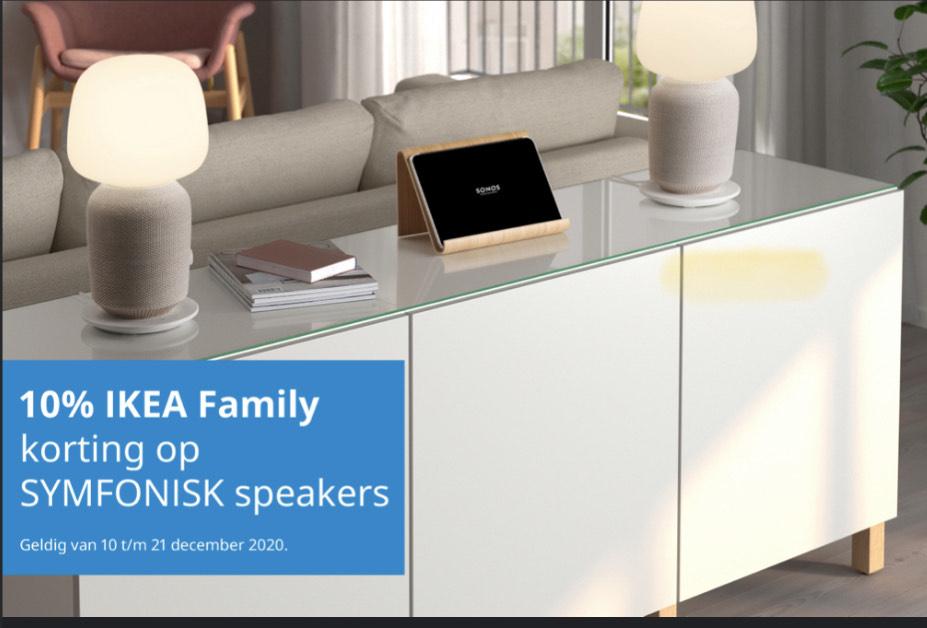IKEA Family 10% korting op alle SYMFONISK speakers