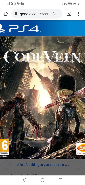Code Vein voor PS4 en Xbox One