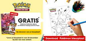 Gratis* Pokemon Collectors Album en Pokemon Trading Fun Pack bij inleveren Amodee kleurplaat