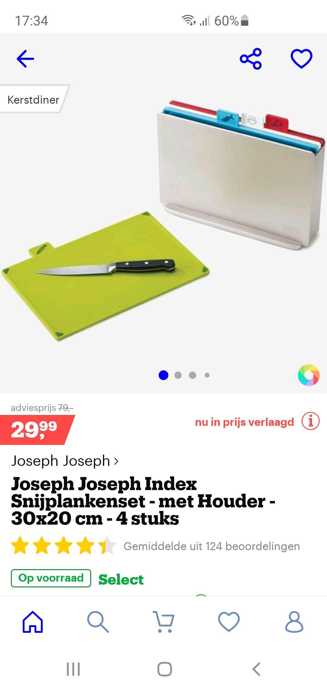 Joseph Joseph snijplankenset met houder