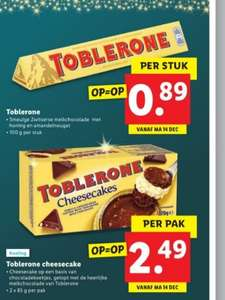 100 gr Toblerone of 2x 85 gr Cheesecake Toblerone