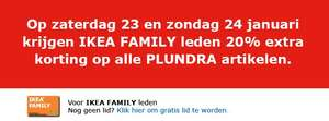 20% extra korting op Plundra-deals @ IKEA Breda (23 en 24 jan)