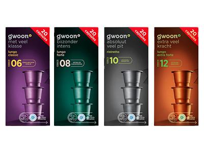 80 G'woon Koffiecups Espresso of Lungo (Nespresso Compatible) voor €5 @ Hoogvliet (6,2 ct/stuk)