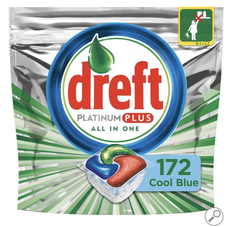 Dreft Platinum Plus Cool Blue - Kwartaalbox 4x43 Stuks - Wasmiddel Capsules