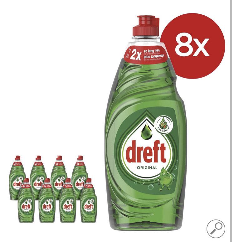 Dreft Original Afwasmiddel - 8 x 890ml - Voordeelverpakking