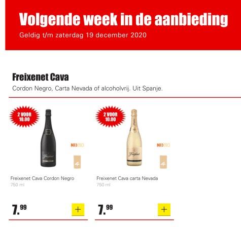 Aanbieding Dirk Cava 2 voor 10 euro