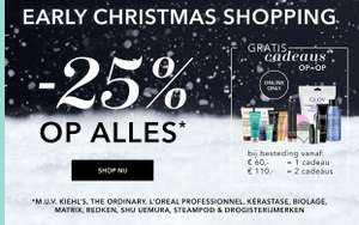 X-Mas shopping: 25% korting - ook RITUALS @ Douglas