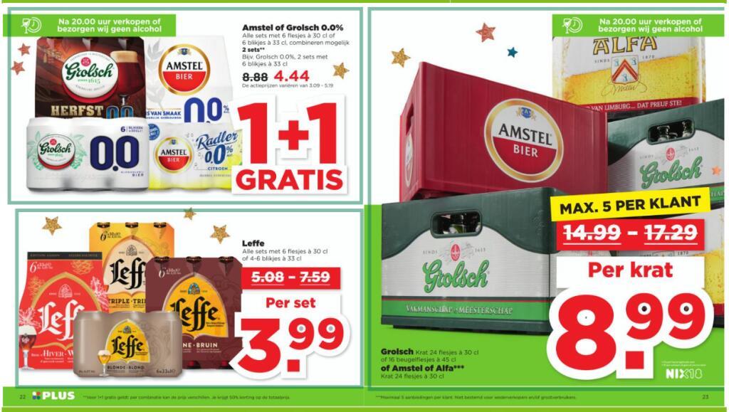 Goede bier deals bij PLUS o.a. Leffe voor € 3,99