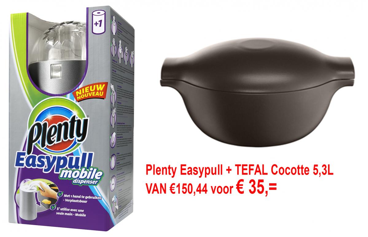 Tefal Cocotte + Plenty Easypull €35 @ KortingOpPannen