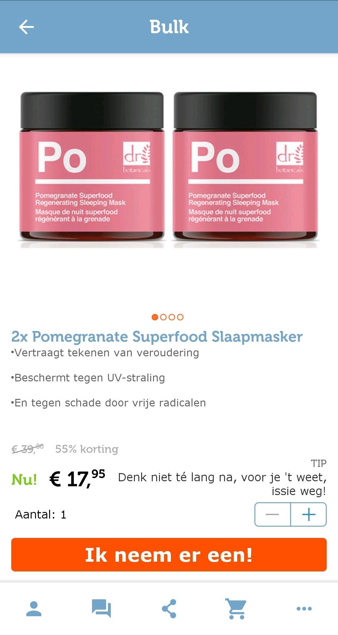Dr botanicals PO regenerating sleeping mask
