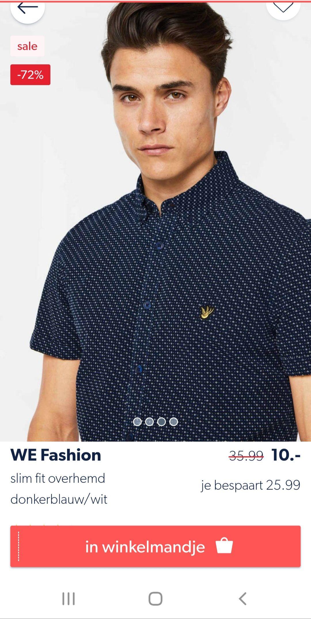 Mooie We Fashion Overhemd voor 10 euro