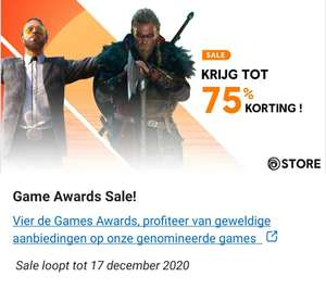 Ubisoft Game Awards Sale | 75% korting