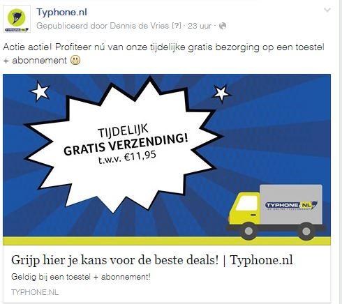 Geen Verzendkosten (t.w.v. €11,95) @ Typhone