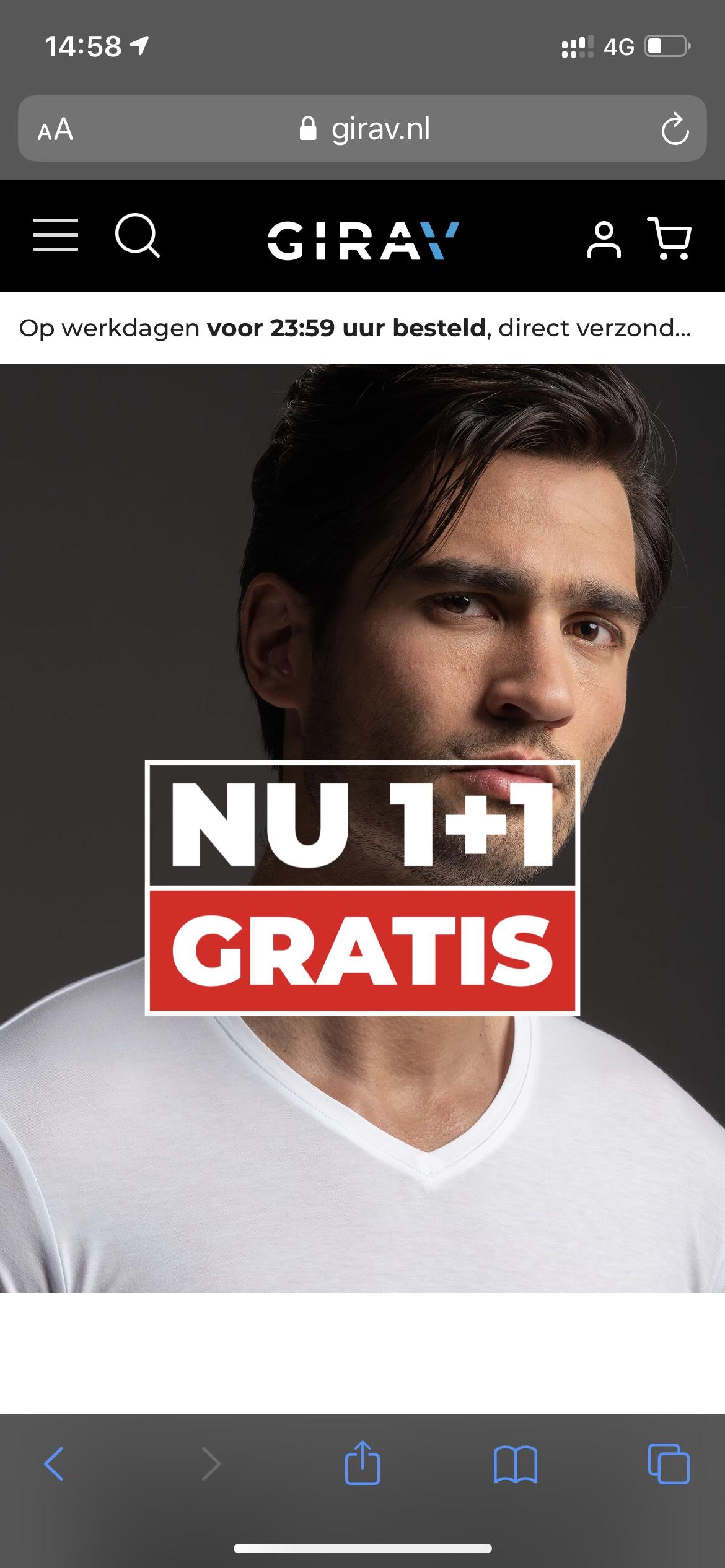 1+ 1 gratis @Girav