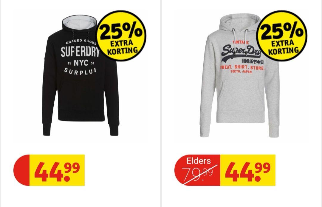 Superdry heren en dames hoodies laatste stuks voor maar €33,74 @kruidvat