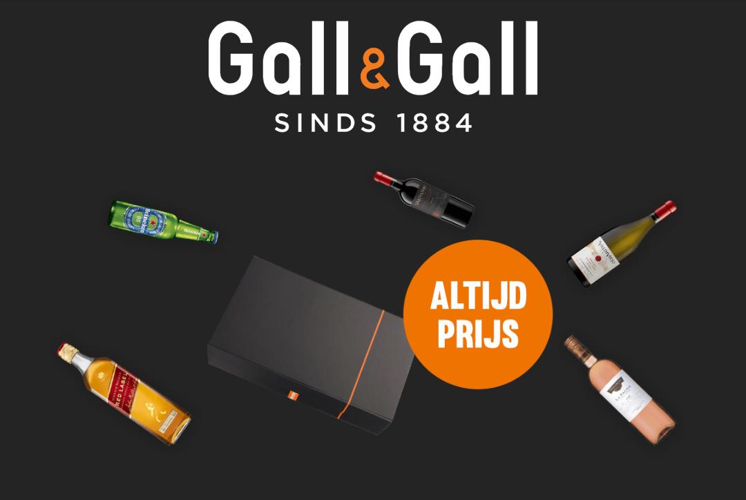 20% korting op een fles naar keuze @Gall&Gall