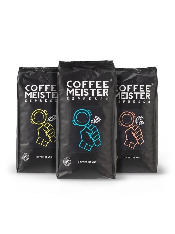 3KG koffiebonen of 20% korting op coffeemeister.nl