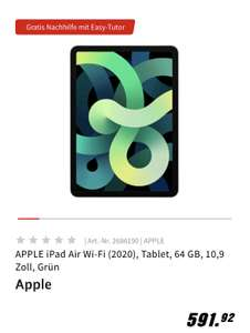 Grensdeal Apple iPad Air (2020) Wi-Fi groen 64 Gb @Mediamarkt.de